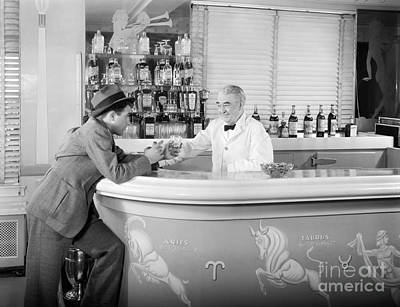 Man Ordering Another Drink, C. 1940s Art Print