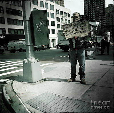Photograph - Man Out Of Work - New York by Miriam Danar