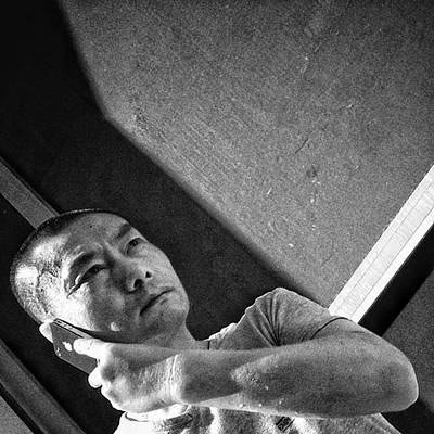 Iphone Photograph - #man #portrait #people #iphone #mobile by Rafa Rivas