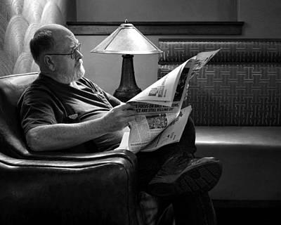 Man - Reading - Newspaper Art Print by Nikolyn McDonald