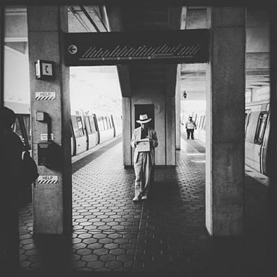 Train Photograph - Man Reading Paper. #washingtondc #train by Alex Snay