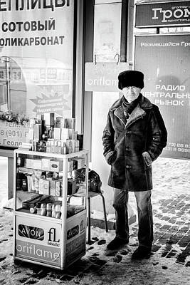 Photograph - Man Selling Avon Perfume by John Williams