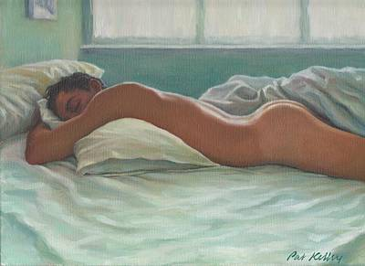 Man Sleeping In Morning Light Art Print by Pat Kelley