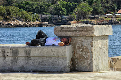 Photograph - Man Sleeping On A Wall  by Patricia Hofmeester