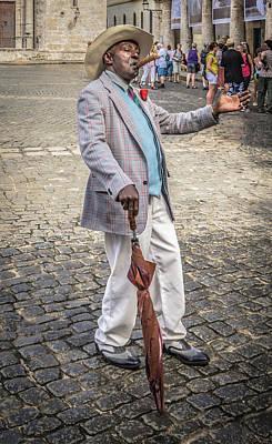 Photograph - Man Smoking A Cigar by Bill Howard