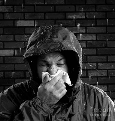 Photograph - Man Sneezing 3 by Garry McMichael