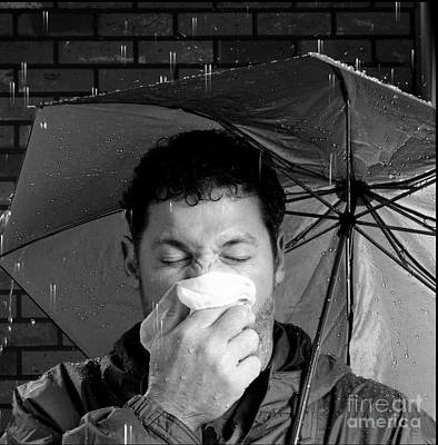 Photograph - Man Sneezing 4 by Garry McMichael