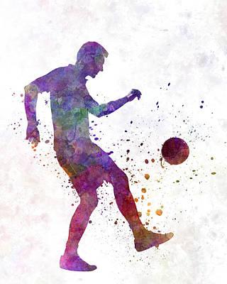 Man Soccer Football Player 04 Art Print