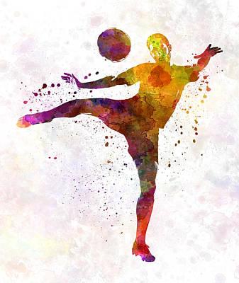 Man Soccer Football Player 07 Art Print