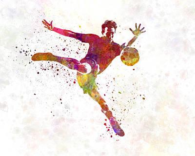 Man Soccer Football Player 08 Art Print