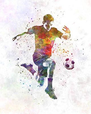 Man Soccer Football Player 09 Art Print