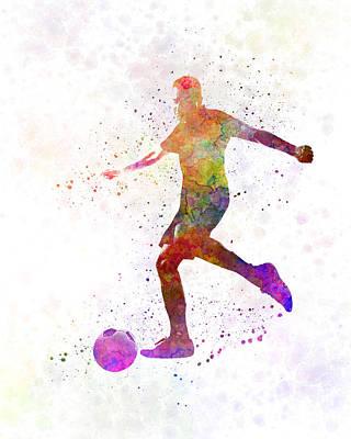Man Soccer Football Player 16 Art Print