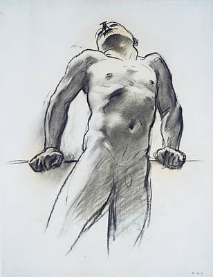 Drawing - Man Standing, Head Thrown Back by John Singer Sargent