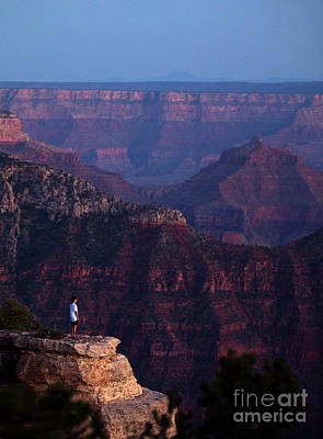 Photograph - Man Standing On The Edge by Diane Diederich