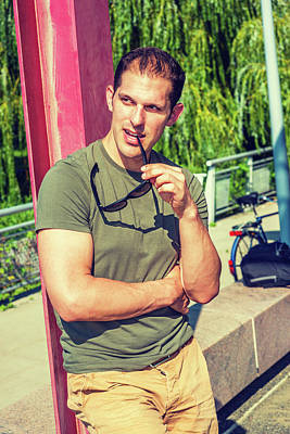 Photograph - Man Summer Casual Fashion In New York.  by Alexander Image