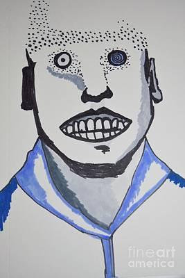 Psychiatric Drawing - Man Vs Machine by Lisa Kleiner