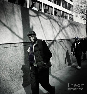 Photograph - Man Walking - New York by Miriam Danar