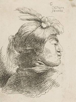 Relief - Man Wearing A Small Turban, Facing Right by Giovanni Benedetto Castiglione