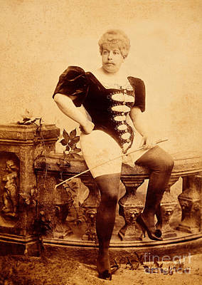 Transsexual Photograph - Man Wearing Corset And Holding Whip by Wellcome Images