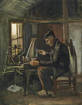 Man Winding Yarn, 1884 Art Print