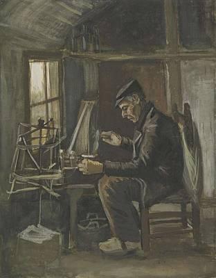 Painting - Man Winding Yarn Nuenen, May - June 1884 Vincent Van Gogh 1853  1890 by Artistic Panda