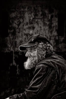 Leather Photograph - Man With A Beard by Bob Orsillo