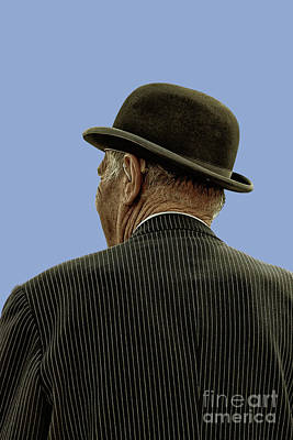 Photograph - Man With A Bowler Hat by Toula Mavridou-Messer