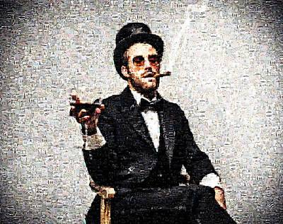 Man With A Cigar And A Glass Art Print by James Jones