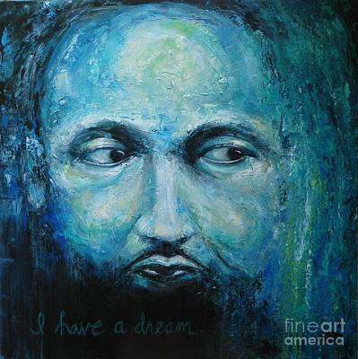 Orator Painting - Man With A Dream by Dan Campbell