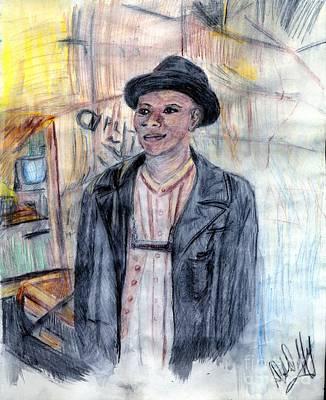 Man With A Harmonica Art Print by Deborah Duffy
