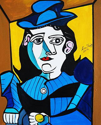 Painting - Man With Ball  Picasso by Nora Shepley