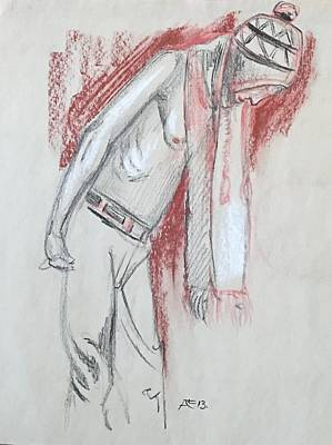 Drawing - Man With Chuyo by Alejandro Lopez-Tasso