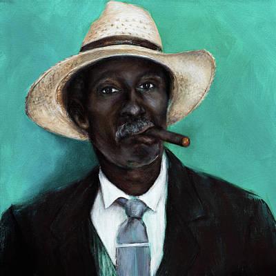 Painting - Man With Cigar by Nicole Daniah Sidonie