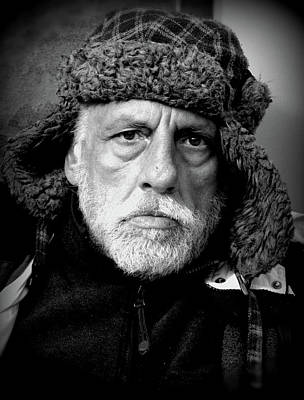 Photograph - Man With Fur Hat by Douglas Pike