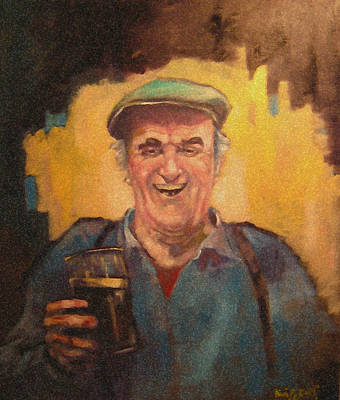Painting - Man With Pint. by Kevin McKrell