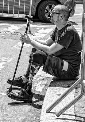 Man With Prosthetic Leg Disability Pride Parade Nyc 2016 Art Print by Robert Ullmann