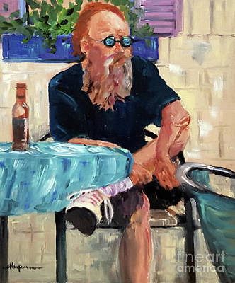 Painting - Man With Psychedelic Glasses by Shelley Koopmann