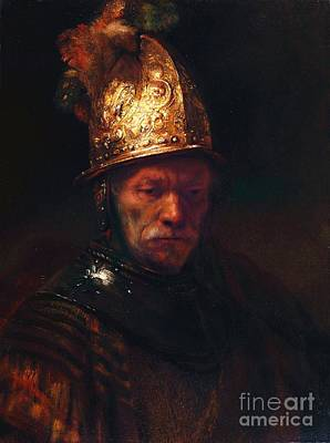 Painting - Man With The Golden Helmet by Pg Reproductions