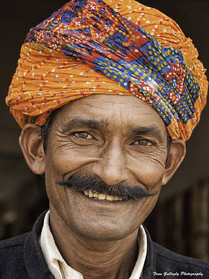Photograph - Man With Turban by Fran Gallogly