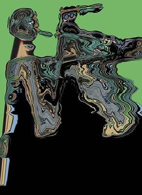 Man Woman Art Print by LeeAnn Alexander
