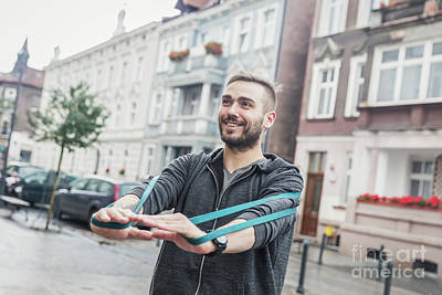 Photograph - Man Working Out In The City. Healthy Regimen by Michal Bednarek