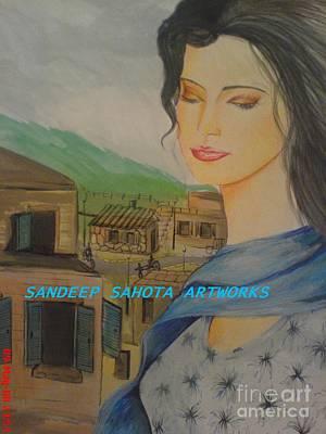 Intezaar Painting - Manali Beauty by Sandeep Kumar Sahota