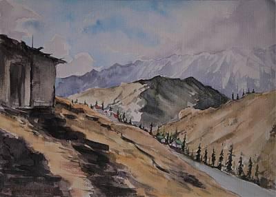 Painting - Manali Scene by Mrutyunjaya Dash