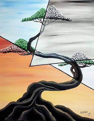 Painting - maNana tarde y noche by Edwin Alverio