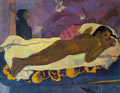 Suggestive Painting - Manao Tupapau, The Spirit Of The Dead Keeps Watch by Paul Gauguin