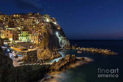 Photograph - Manarola At Night by Jennifer Ludlum