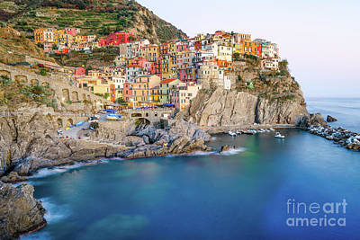 Photograph - Manarola Cinque Terre Italy Sunset by Christy Woodrow