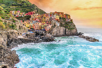 Photograph - Manarola - Cinque Terre National Park - Liguria - Italy by Luciano Mortula