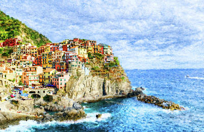 Digital Art - Manarola Cinque Terre by Weston Westmoreland