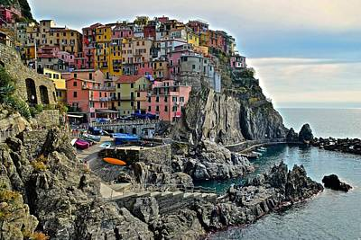 Photograph - Manarola Close Up by Frozen in Time Fine Art Photography